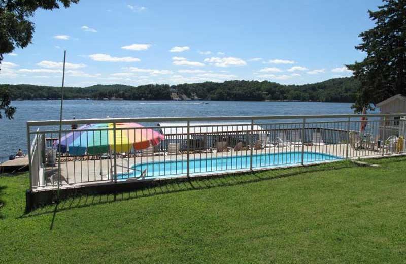 Outdoor pool at Sunset Inn Resort.