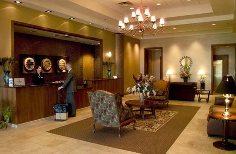 Lobby at the hotel