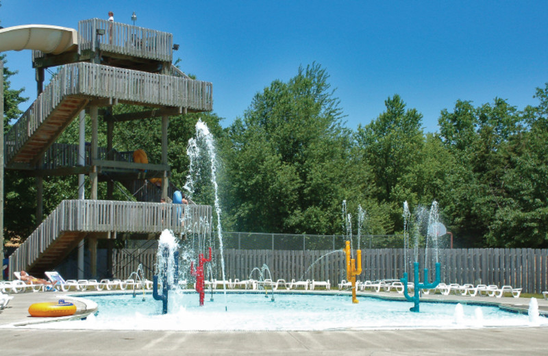 Outdoor water park at Double JJ Resort.