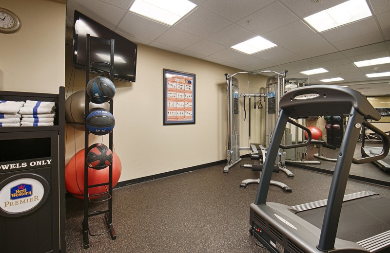 Gym at Best Western Helena Great Northern Hotel.