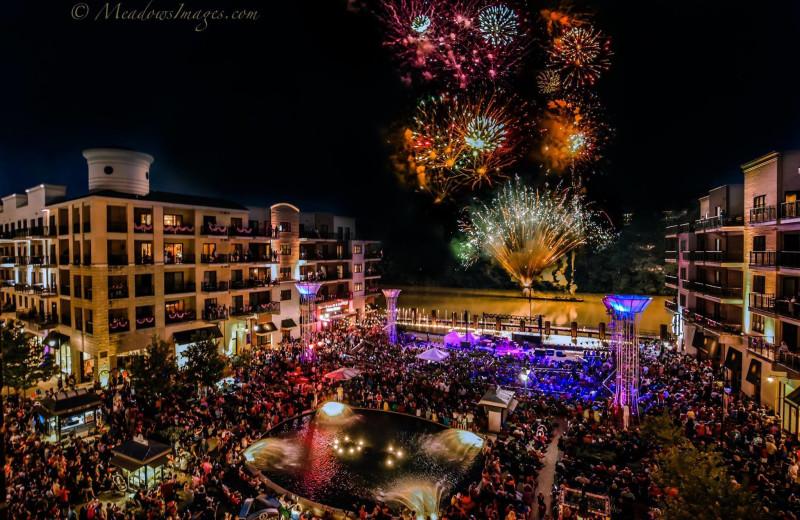 Fireworks at Thousand Hills Golf Resort.