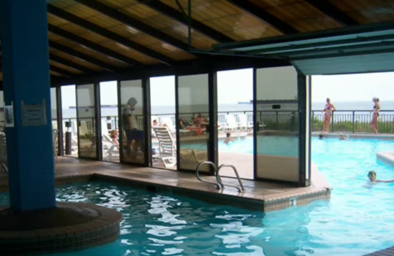Indoor and outdoor pool at Virginia Beach Resort Hotel.