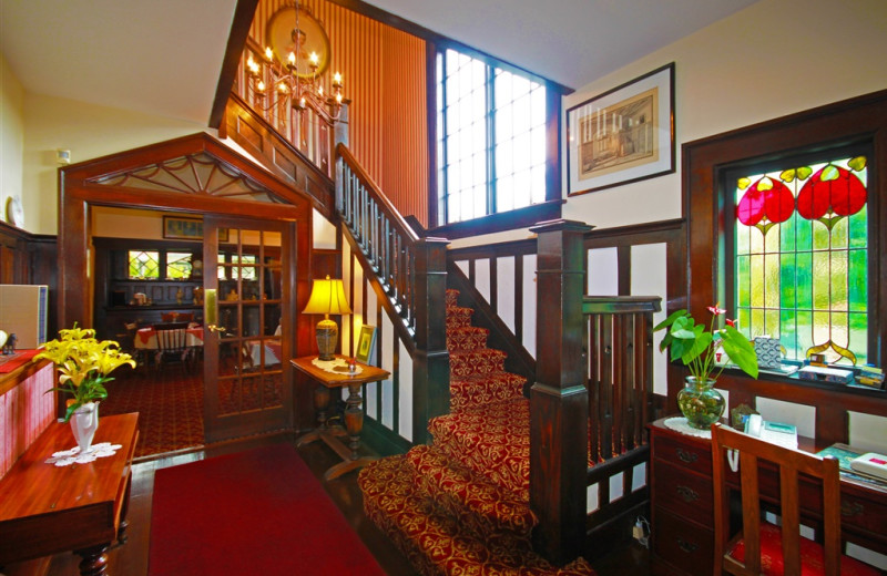 Interior view of Oak Bay Guest House.