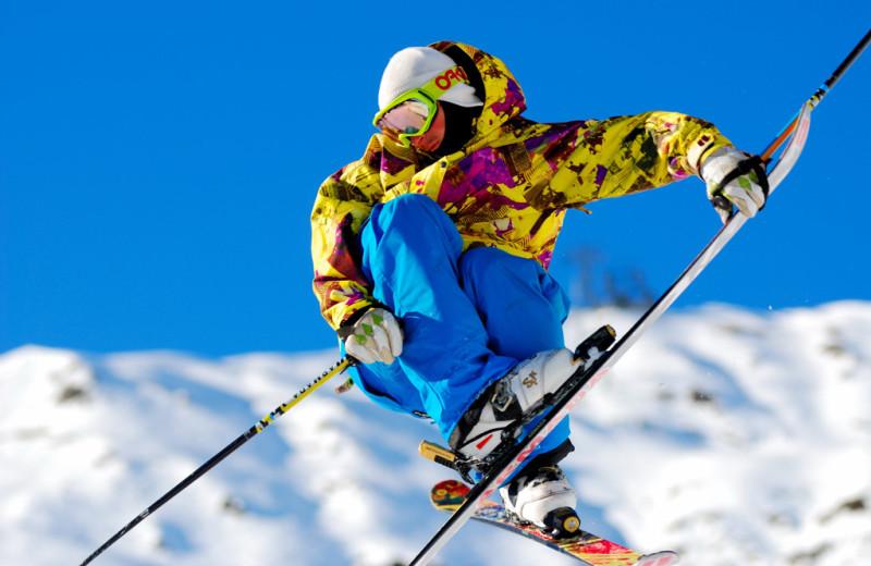 Skiing at Breckenridge Lodging Center.