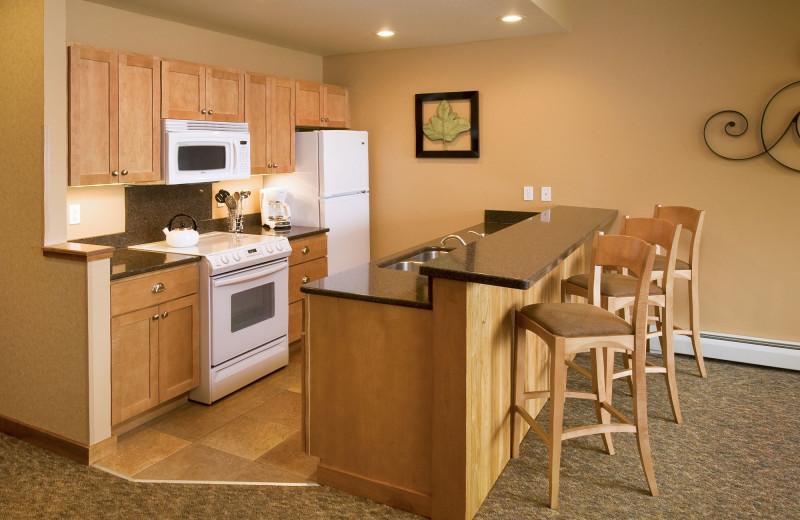 Guest kitchen at Lutsen Resort on Lake Superior.