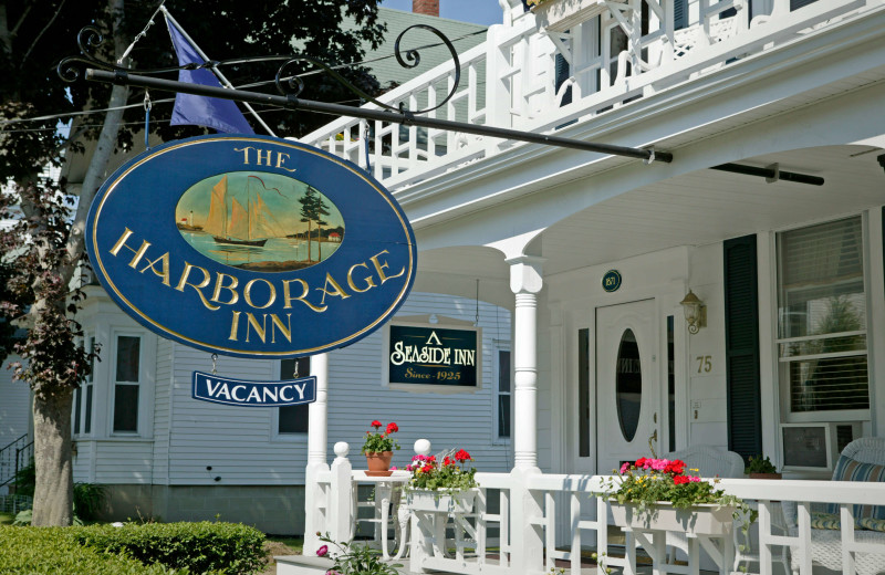 Exterior view of Harborage Inn.