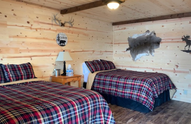 Guest room at Alaska's Big Salmon Lodge.