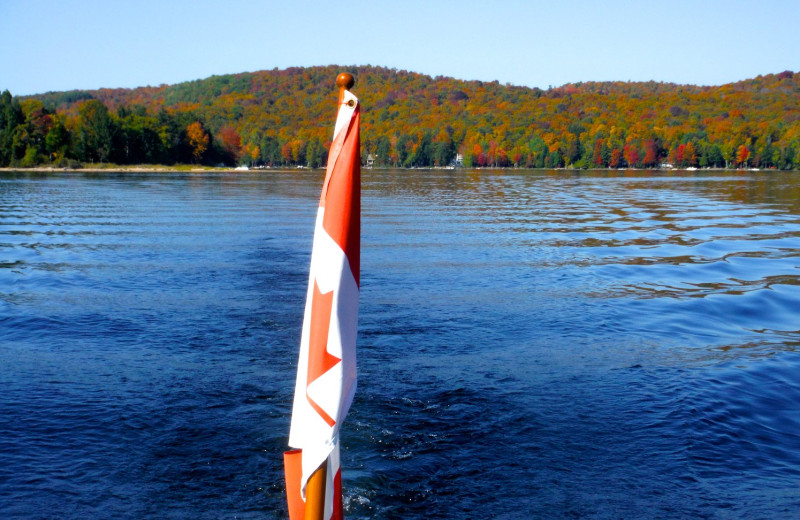 Lake at Sir Sam's Inn & Spa.