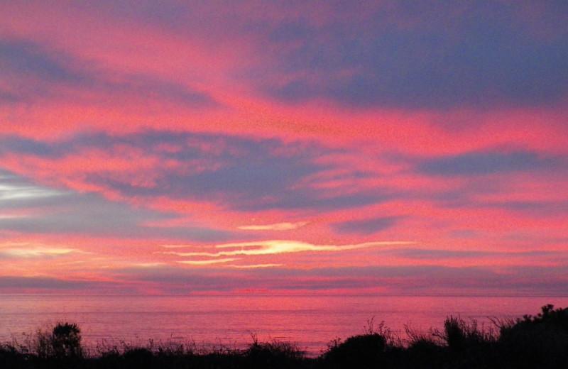 Sunset at Sea Otter Inn.
