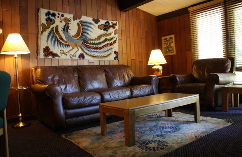 Guest living room at St. Moritz Lodge & Condominiums.