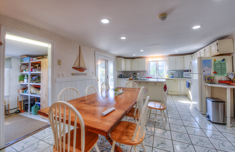 Rental kitchen at Beach Realty.