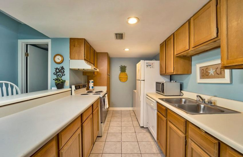 Rental kitchen at Sugar Sands Realty & Management.