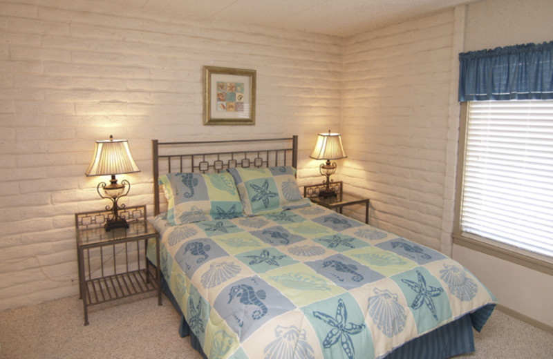 Guest Bedroom at Coral Cay Beachfront Condominiums