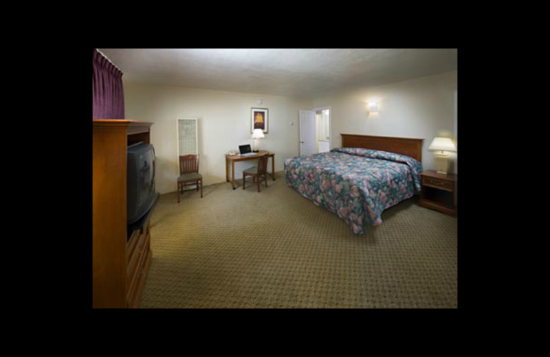 Guest room at Civic Center Inn.