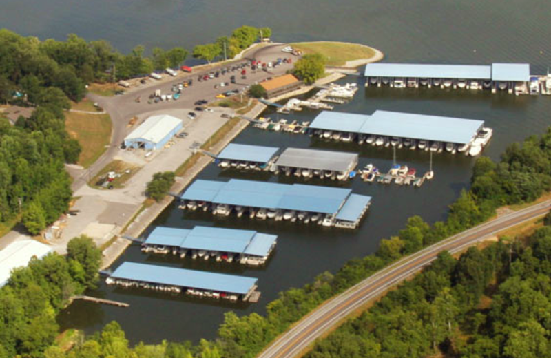Aerial View of Eddy Creek Marina Resort