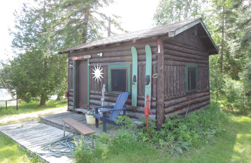 Cabin exterior at Owls Nest Lodge.