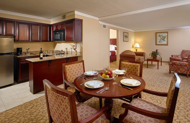 Guest suite at Plaza Resort & Spa.