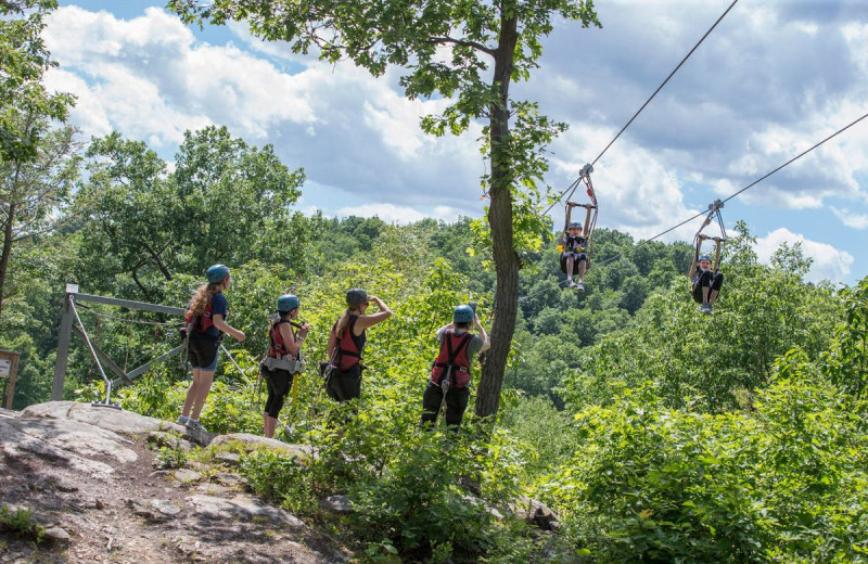 Zip line at Mountain Creek Resort.