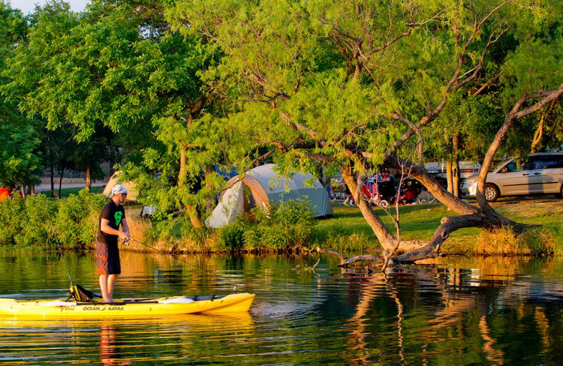 Canoeing at Inks Lake State Park.