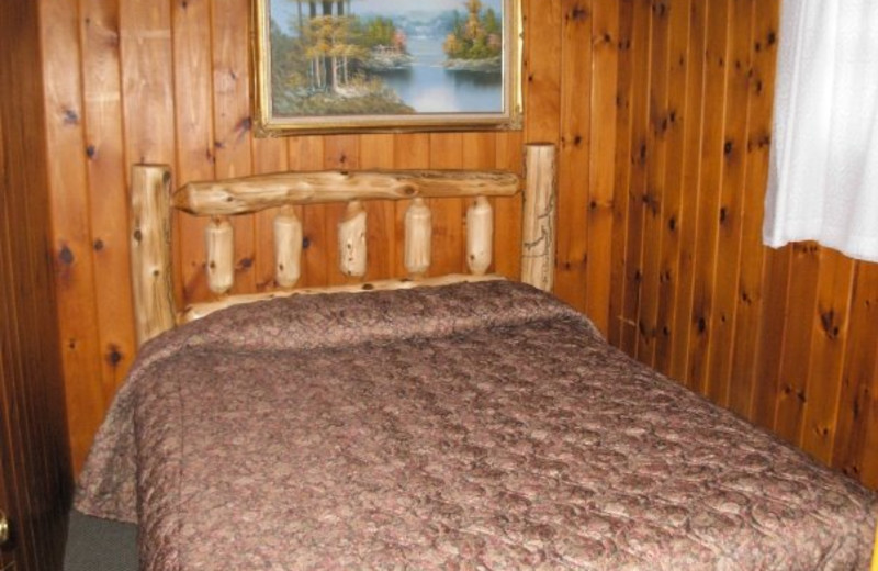 Guest room at Diamond Cove Cottages.