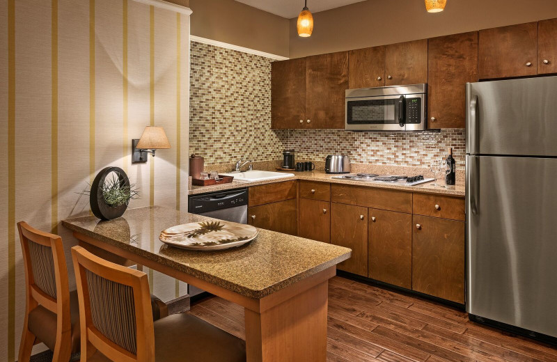 Guest kitchen at Gainey Suites Hotel.