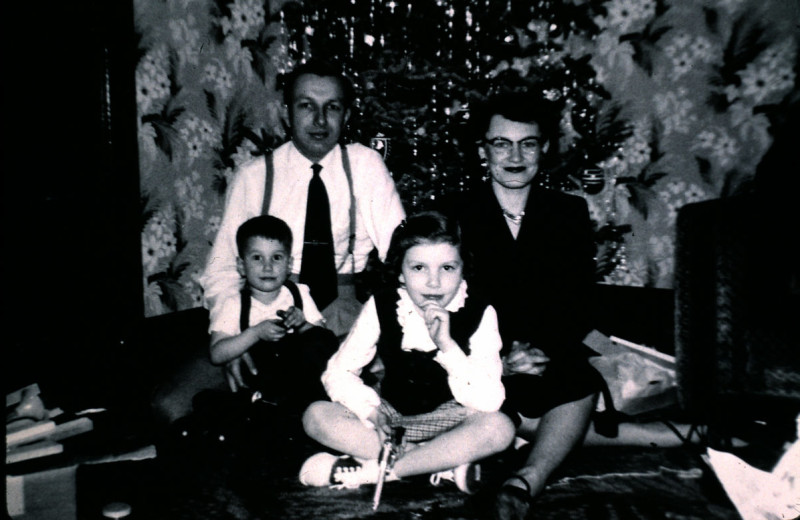 Old family photo from Bavarian Inn of Frankenmuth.