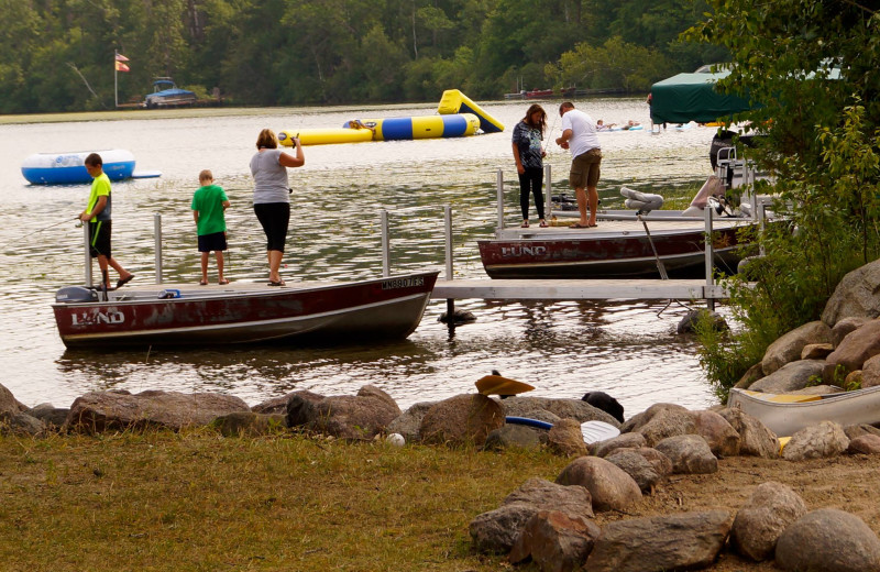 Lake activities at Anderson's Starlight Bay Resort.