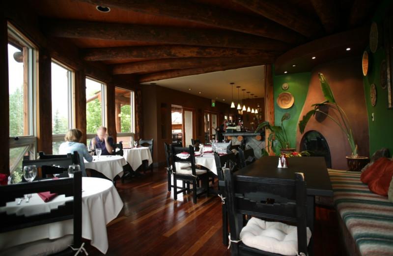 Dining  at Chipeta Solar Springs Resort.