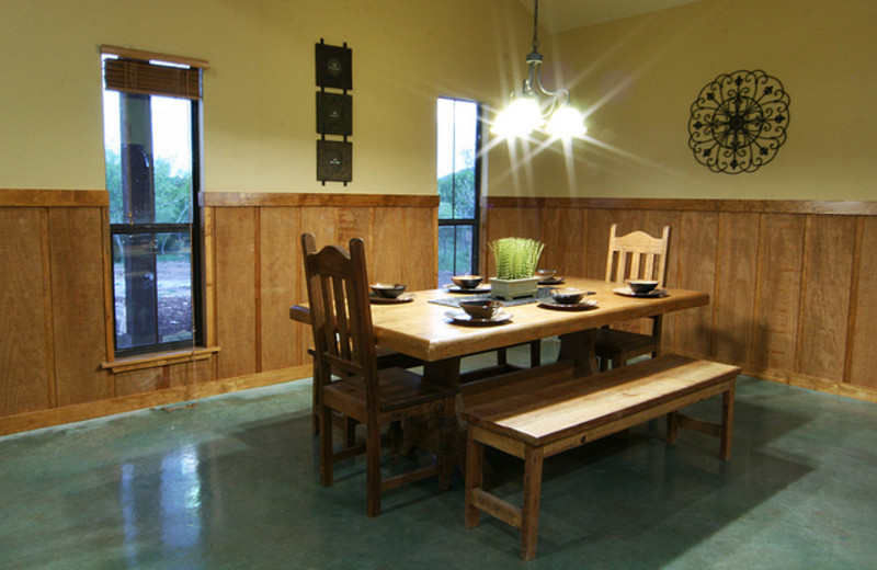 Dining room at Neal's Lodges.