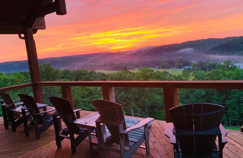 Sunset at The White River Inn.