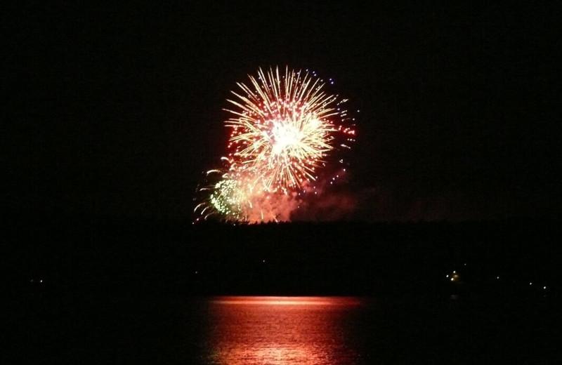 Fireworks at The Smugglers Cove Inn.