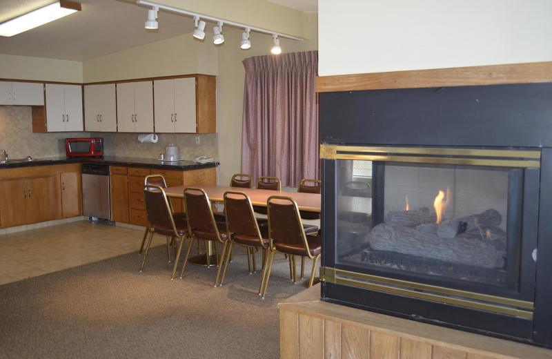 Beach house interior at Surfrider Resort.