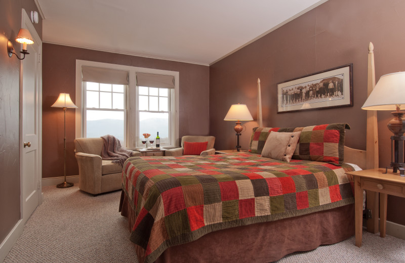 Guest room at The Mountain Top Inn & Resort.