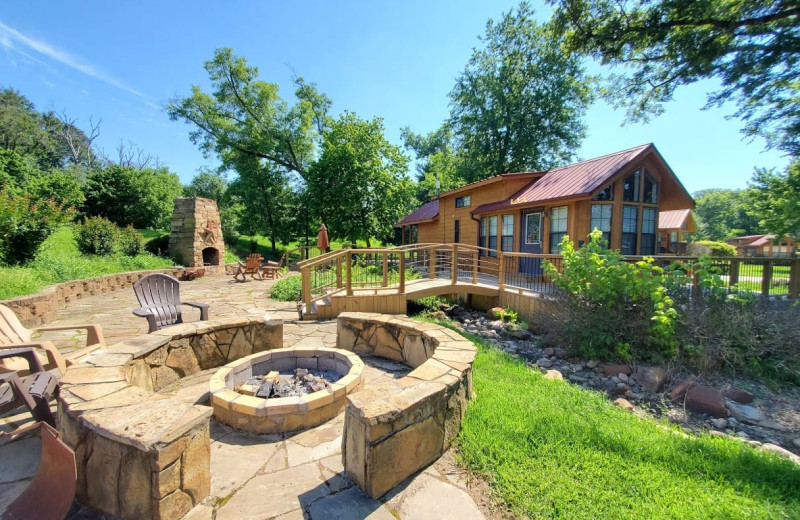 Guest patio at Mill Creek Ranch Resort.