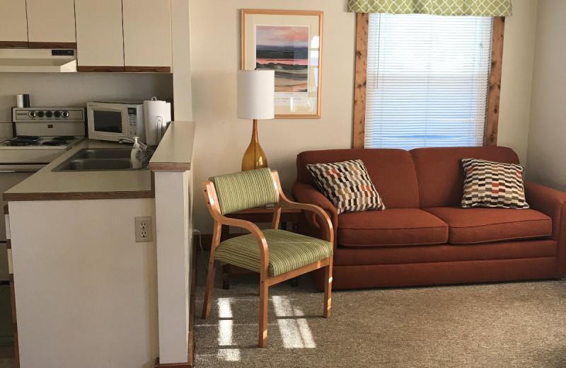 Cottage interior at Lakeshore Resort TC.