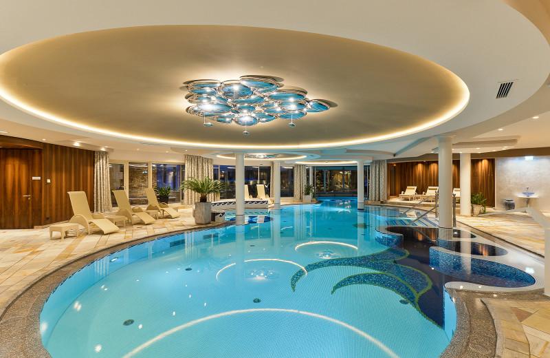 Indoor pool at Hotel Trofana Royal.