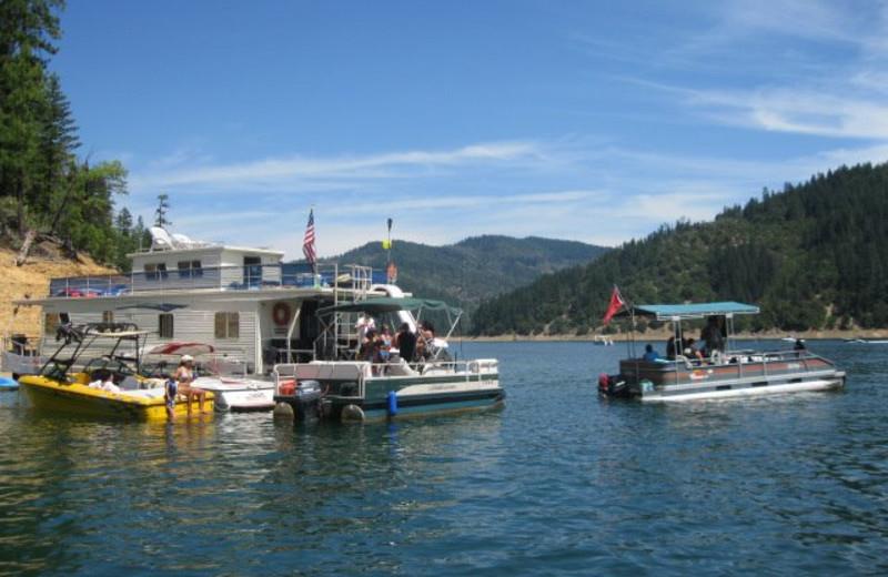 Houseboat and water rentals at Trinity Lake.