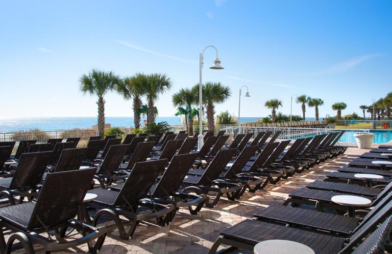Beach chairs at Paradise Resort.