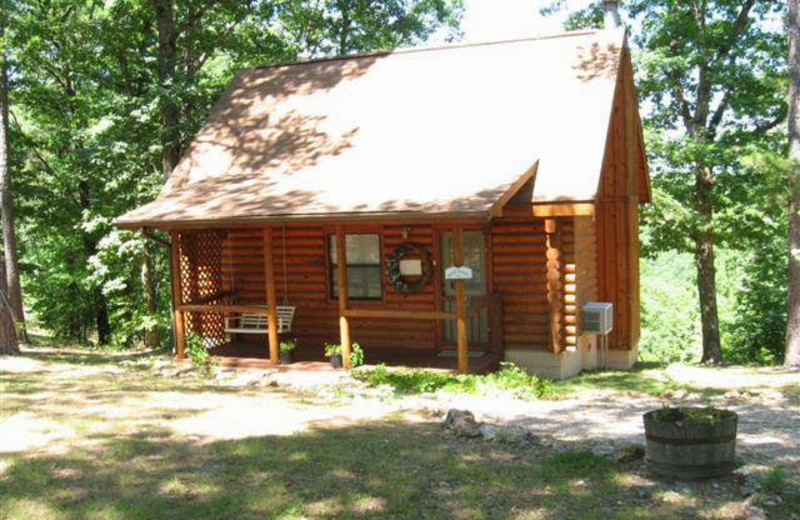Cabin exterior at Ridge Top Resort & Chapel.