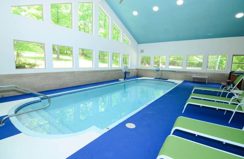Rental indoor pool at Railey Vacations.