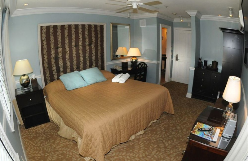 Guest room at Coconut Grove Guest House.