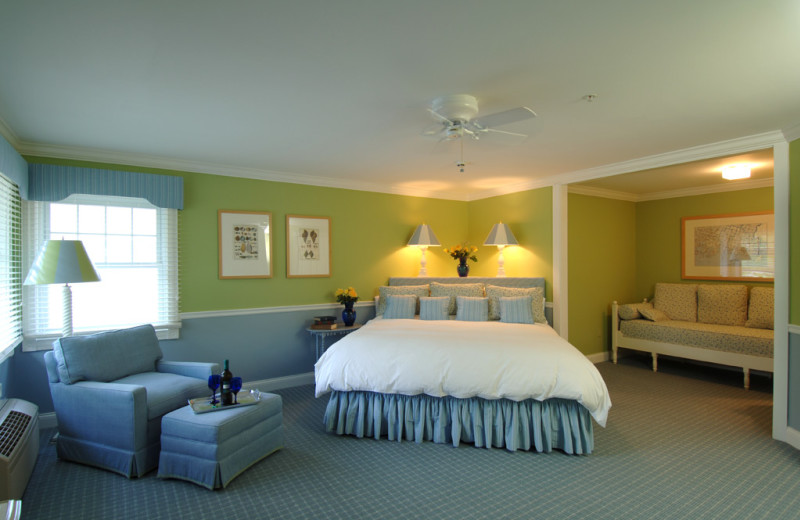 Guest room at The Inn at Ocean's Edge.