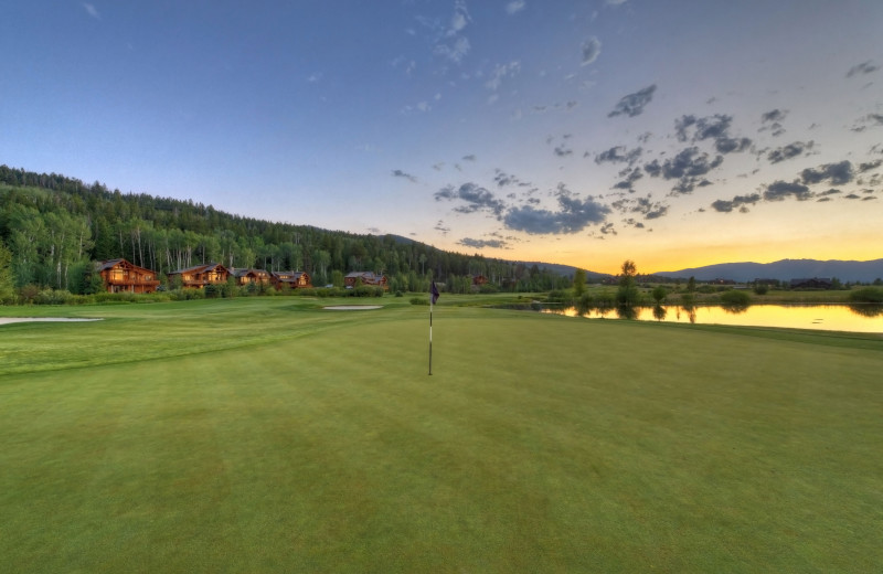 Golf course at Teton Springs Lodge.