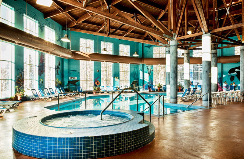Indoor pool at Deerhurst Resort.