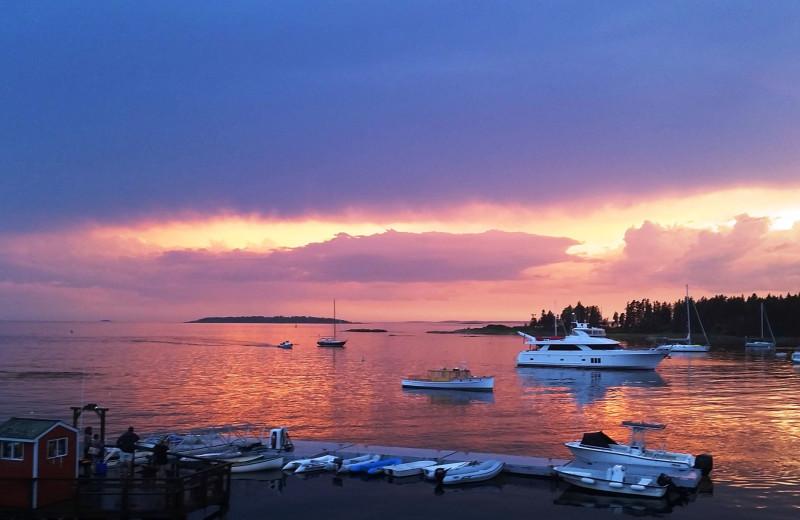 Sunset at Sebasco Harbor Resort.