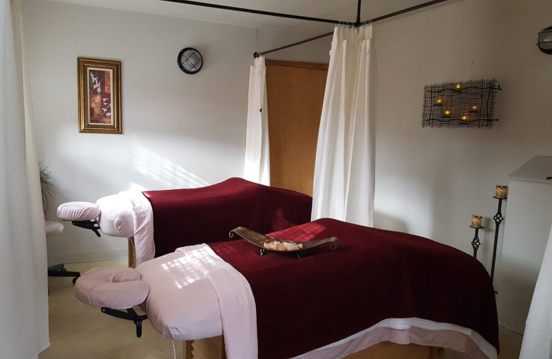 Massage tables at Carson Hot Springs Spa and Golf Resort.