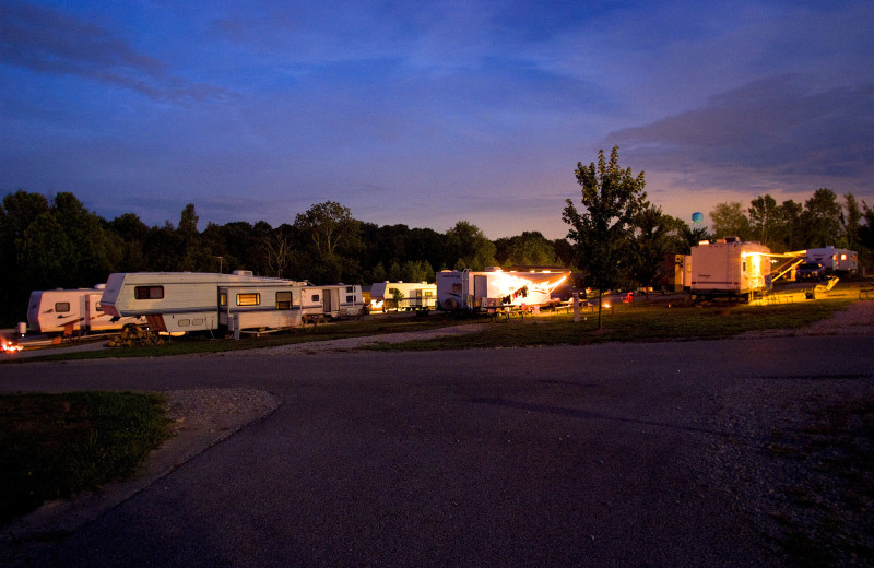 RV camp at Jellystone Park at Lake Monroe.