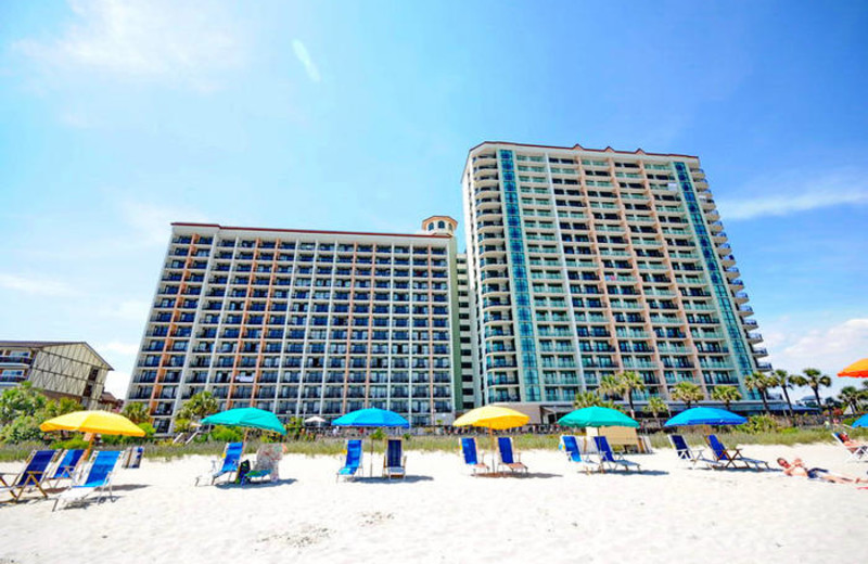 Resort exterior at MyrtleBeachVacationRentals.com.
