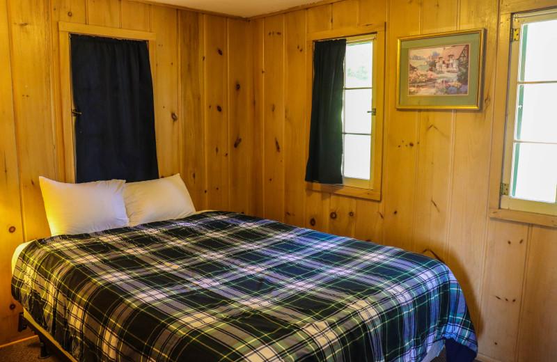 Cabin bedroom at Wilderness Resort Villas.