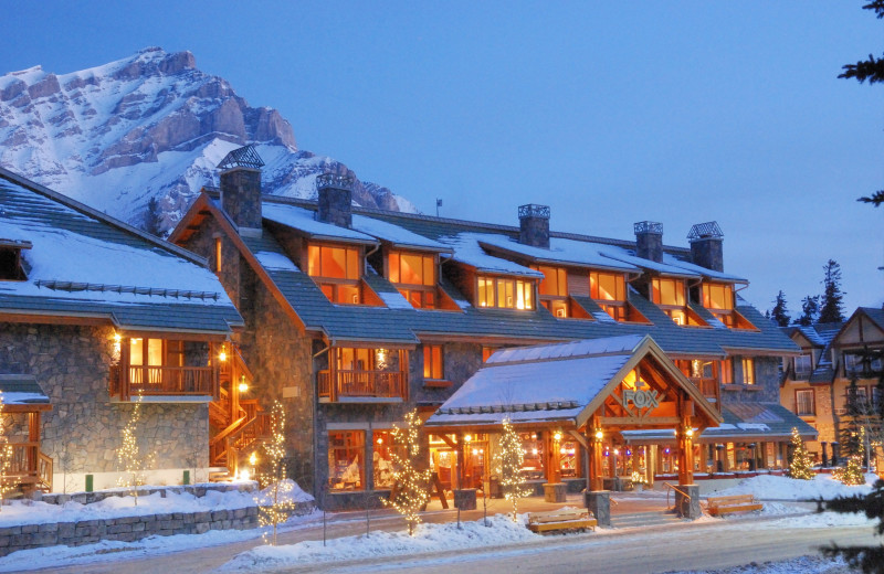 Winter at The Fox Hotel & Suites in Banff.
